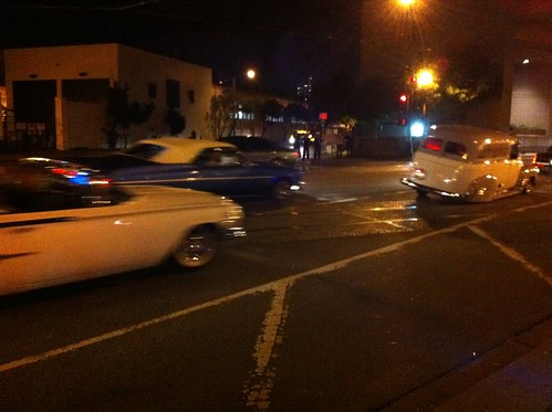 Lowriders, @fleetweeksf sailors, and @sfbikeparty all on the embarcadero: