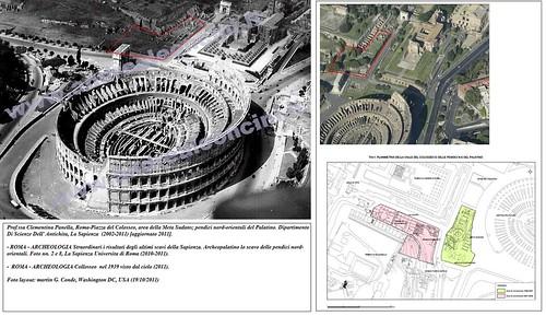ROMA - ARCHEOLOGIA Straordinari i risultati degli ultimi scavi della Sapienza. Archeopalatino lo scavo delle pendici nord-orientali. Foto Colosseo (1939); Foto nn. 2 e 8, La Sapienza Universita di Roma (2010-2011). by Martin G. Conde