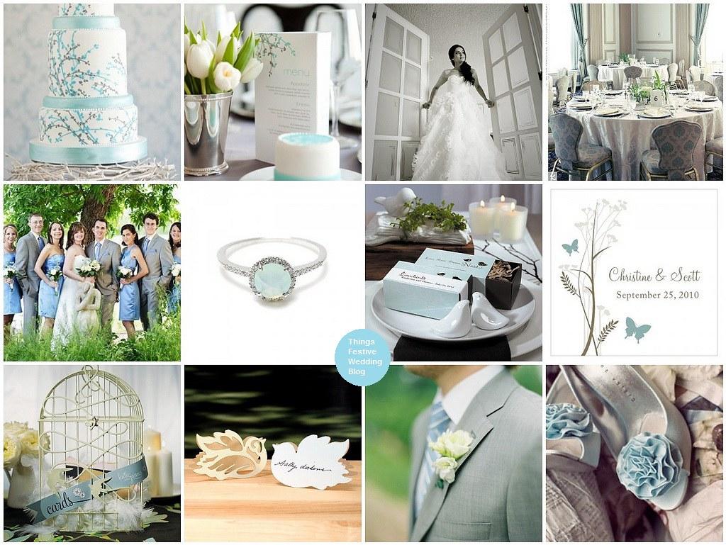 Blue Gray Wedding Theme   Invitationjdi.co