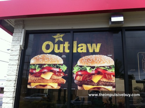 Jack in the Box Outlaw Burger Sign
