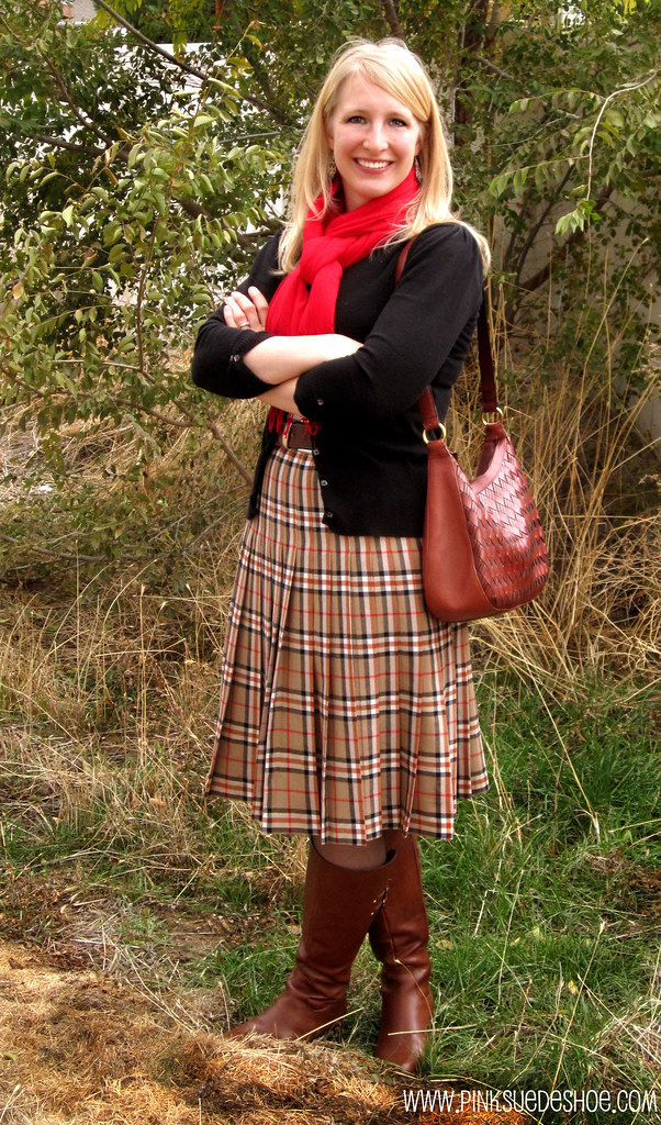 plaid skirt outfit copy