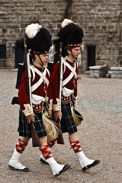 A pair of 78th Highlanders in perfect step.