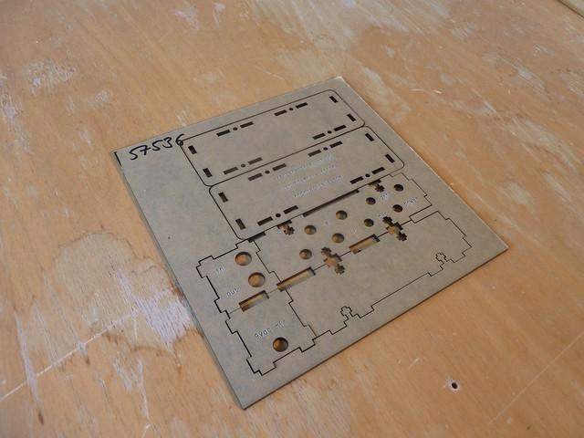Rich Decibels Exenterator laser-cut case pieces
