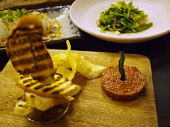 Steak tartare with truffle mayo and potato chips, Open Door Policy, Yong Siak Street, Yong Siak View, Tiong Bahru Estate