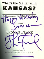 Thomas Frank's inscription