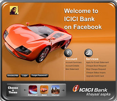 Welcome to ICICI bank Page