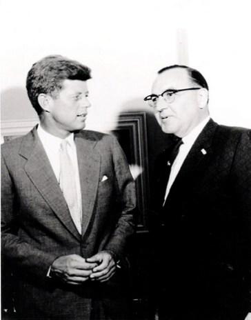JFK with Pat Brown