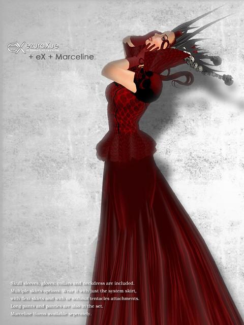 + eX + Marceline Goth Dress *Red