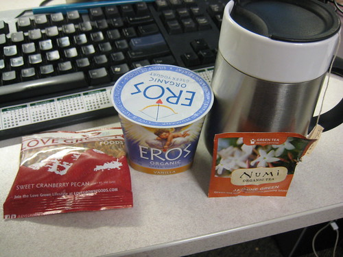 snack--Numi green tea, eros, love grown