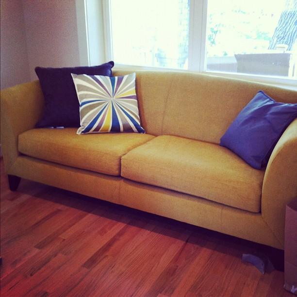 It's the best sofa ever & it's mine! Love @CrateandBarrel