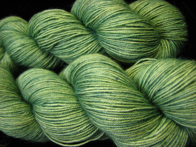 Sage - Bengal Twist Semi Solid Hand Dyed Sock Yarn