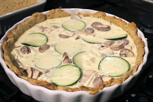 Courgette and Mushroom Quiche (4/6)