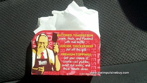 Wendy's Dave's Hot 'N Juicy Cheeseburger Wrapper