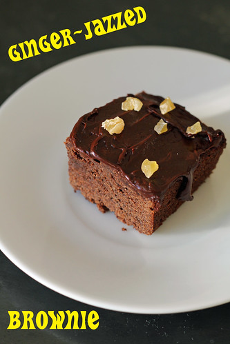 ginger-jazzed brownies