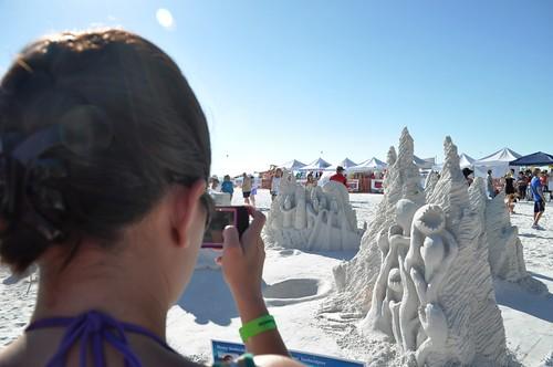 "Rodrigo Ferreira and Lucinda Wierenga, ""Ab-Duction"" Siesta Key Crystal Classic Master Sandsculpting Competition, Sarasota, Fla., Nov. 13, 2011"