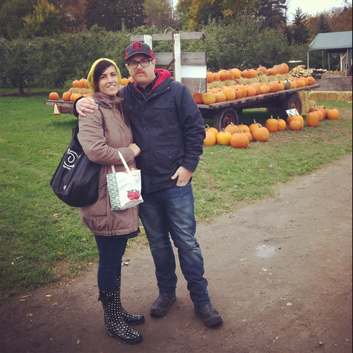 Me and Mark - apple picking at Blackman Homestead Farm