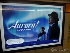 Finnair aurora in Tokyo