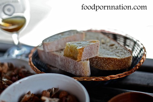 Complimentary bread and olive oil