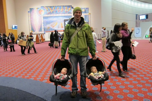 Dad with twins at Hopper Conference 2011