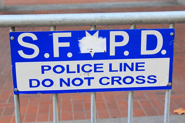 SFPD Police line, do not cross
