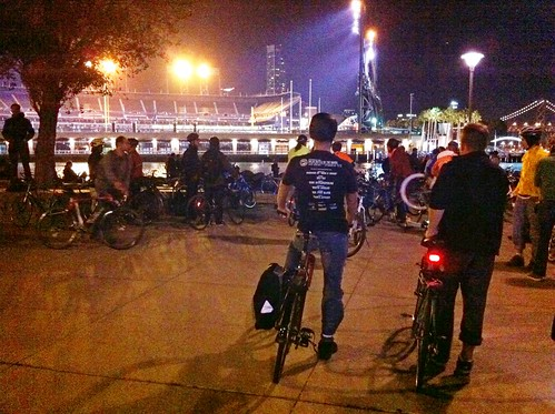 AT&T Park + lots-o-bikes = @sfbikeparty start: