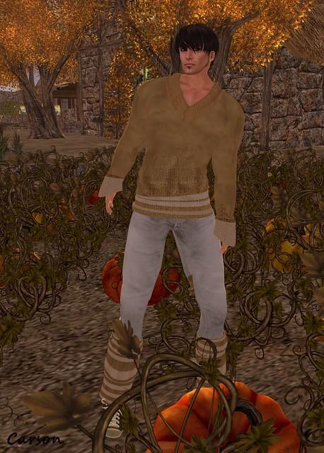22769 - Tan Jumper, Grey Autumn Jeans and Leg Warmers - Season Palette Hunt