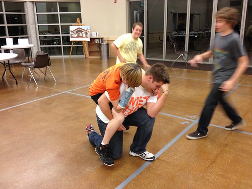 Tebowing at youth group! #tebowing #tebo by walker cleavelands, on Flickr