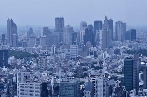 Buildings in Shinjuku by hidesax