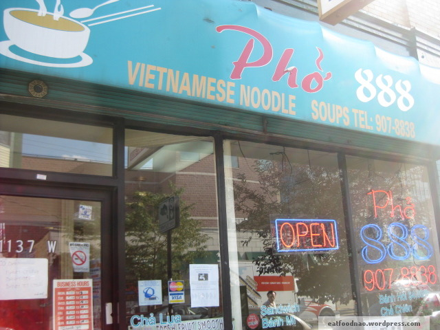 Phở 888 sign