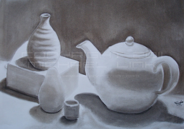 Charcoal still-life