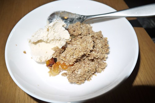 Apricot and apple crumble
