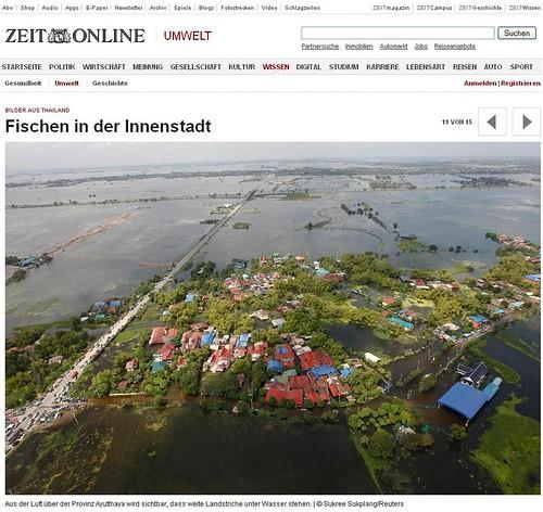 Überschwemmungen in Thailand - Bilder
