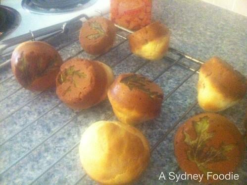 Scented geranium muffins