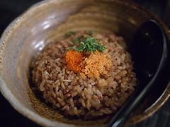 Garlic fried rice, Raku Japanese Restaurant & Bar, Greenwood Avenue