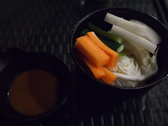 Not complimentary appetizers, Raku Japanese Restaurant & Bar, Greenwood Avenue