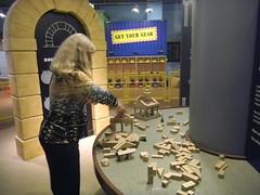 Laura with blocks