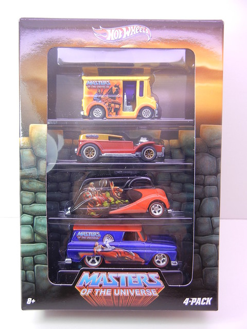 HOT WHEELS MASTERS OF THE UNIVERSE 4 CAR SET (1)