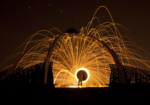 light art wool night fire lights graffiti wire long exposure shoot colours nocturnal bright battery led torch bulbs orbs nigh