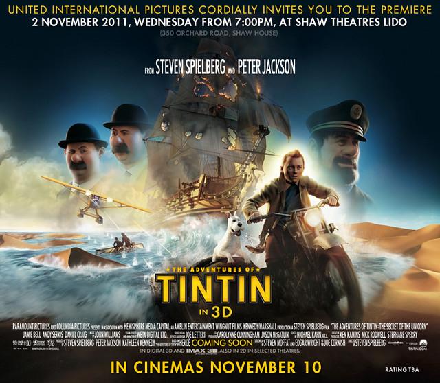 The Adventure of Tintin movie invite