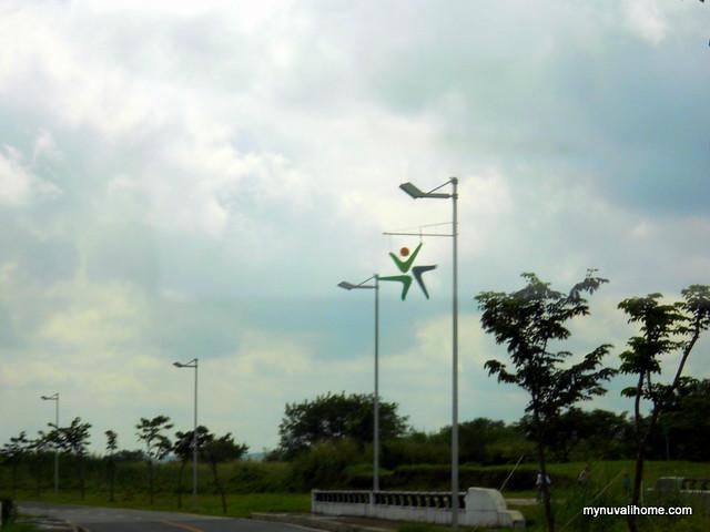 Nuvali logo lamp