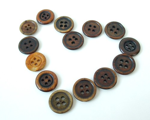 Wooden buttons for my stash..