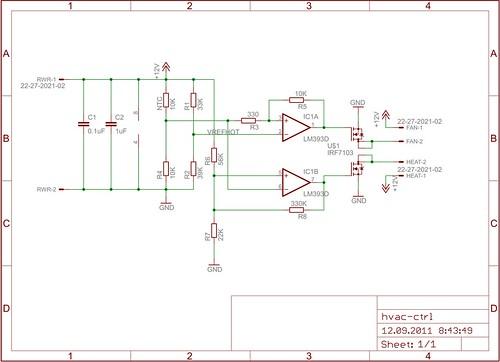 """""""HVAC"""" controller schematics"""