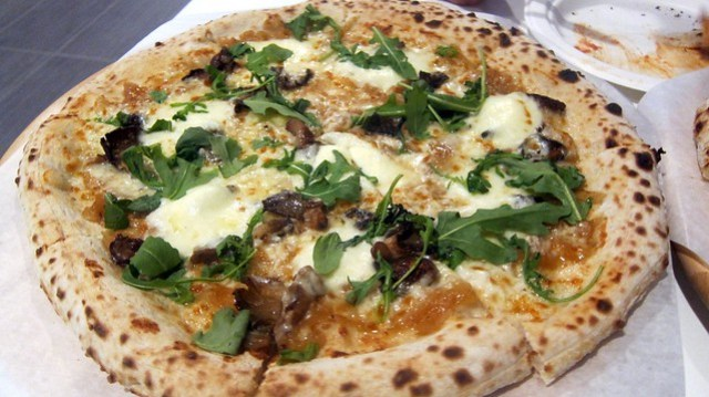 tartufo pizza at tartufo pizzeria