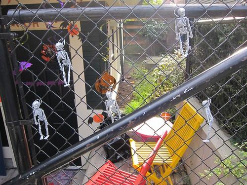 Outside Decorations Glitter Skeletons