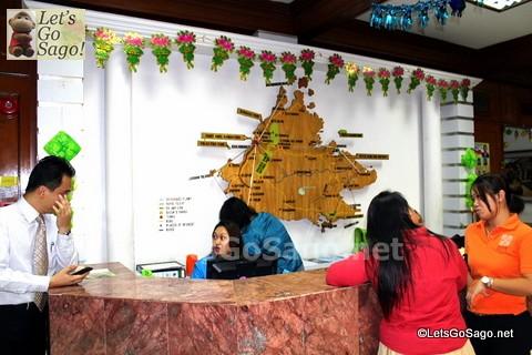 Inside Sabah Tourism Board office