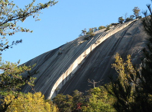 Large crack at Stone Mountain