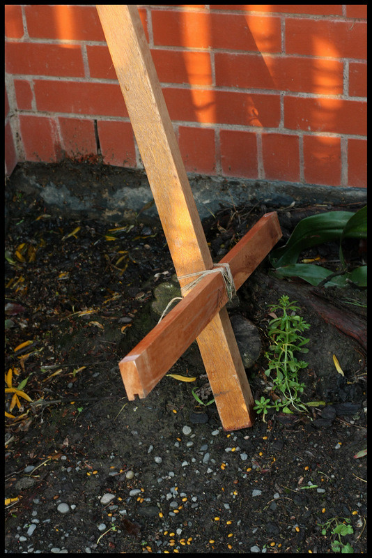 abandoned cross