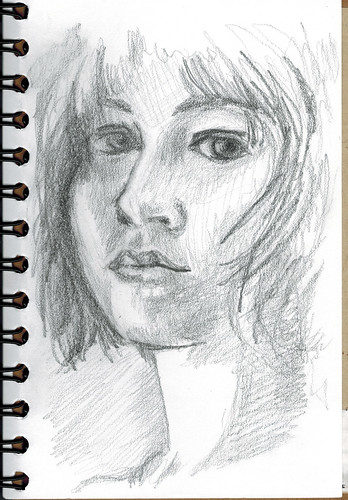 young woman - pencil by husdant