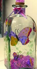 bottiglia dipinta