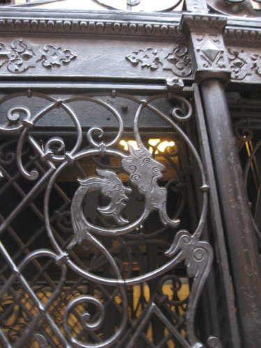 09-25-11-CA-LA-LAVA walking tour-demons on the elevator door of a wonderful old building.jpg
